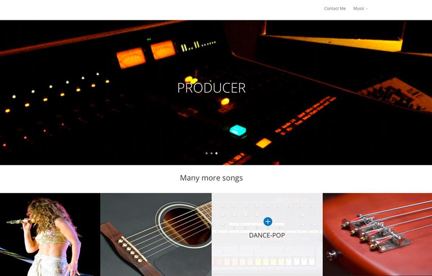 Music portfolio site